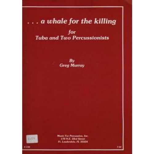 ...a Whale For The Killing by Greg Murray