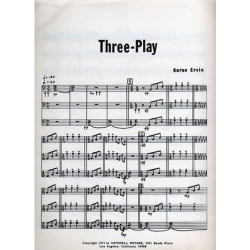 Three-Play by Karen Ervin