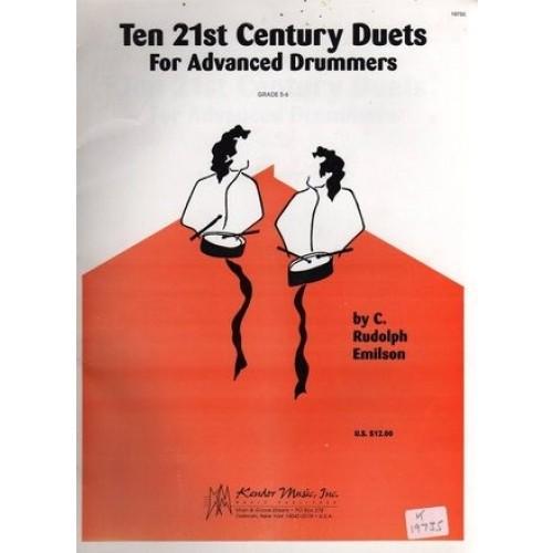 Ten 21st Century Century Duets For Advanced Drummers