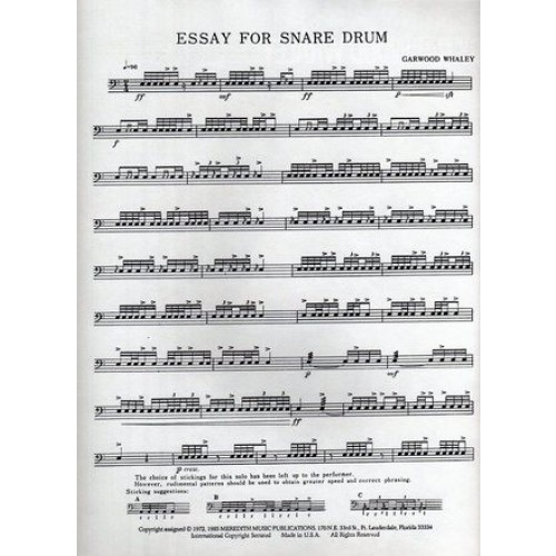 Essay For Snare Drum