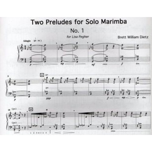 Two Preludes For Solo Marimba