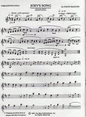Joey's Song by David Mancini