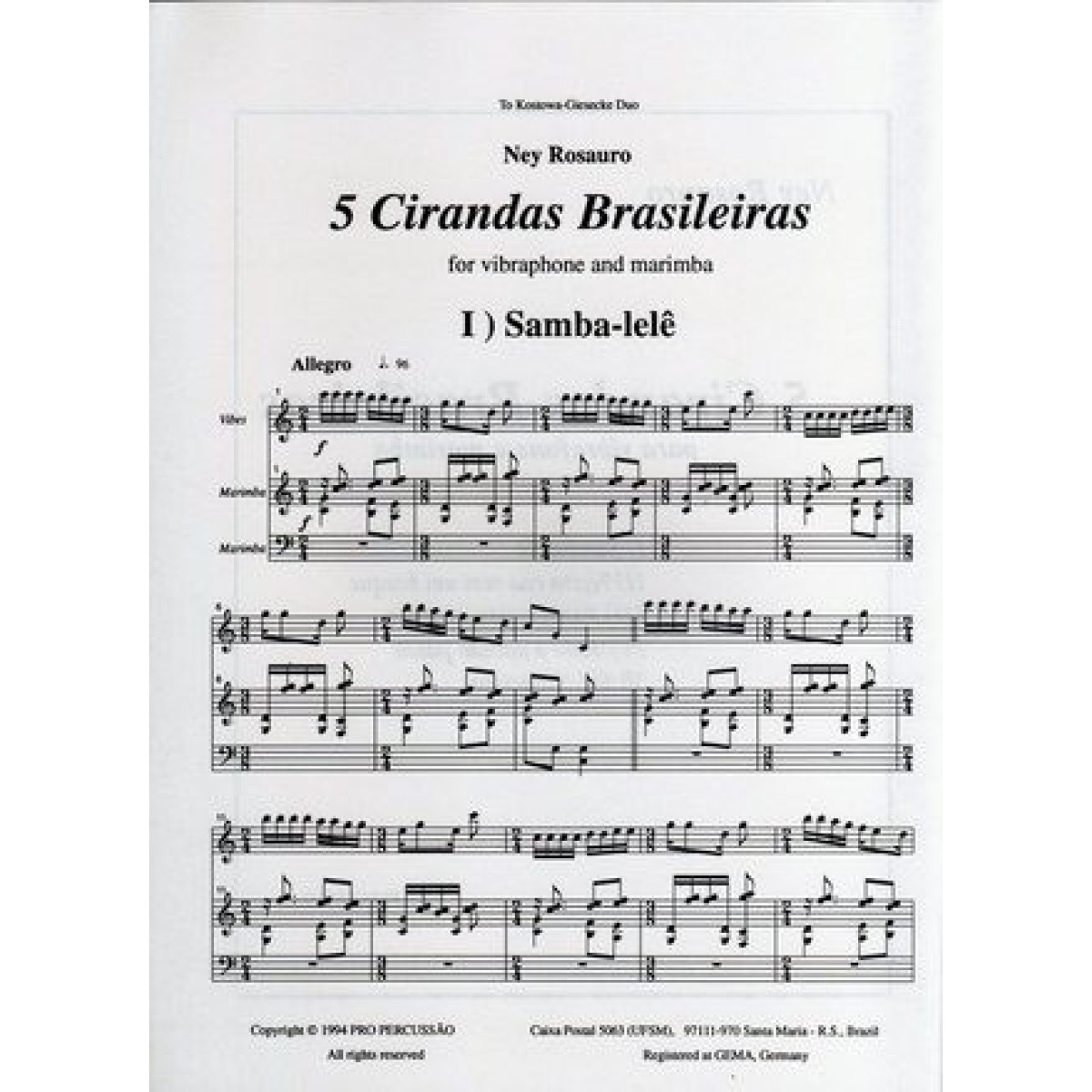 5 Cirandas by Ney Rosauro