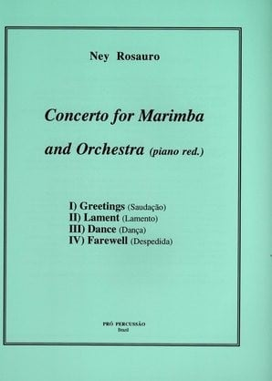 Concerto For Marimba And Orchestra (piano Red.) by Ney Rosauro