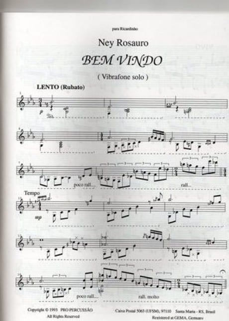 Bem vindo (welcome) by Ney Rosauro