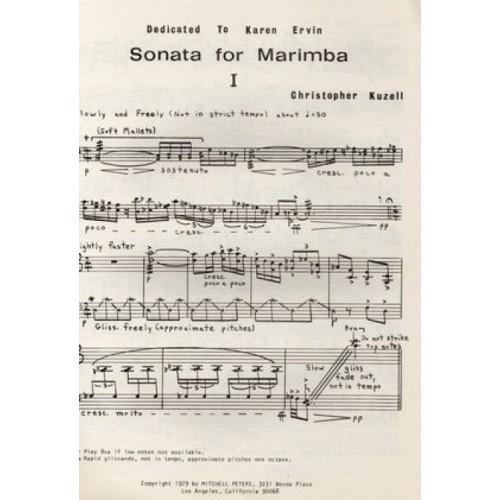Sonata For Marimba by Christopher Kuzell