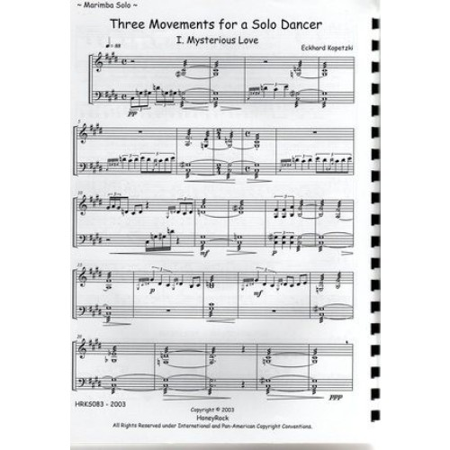 Three Movements For A Solo Dancer