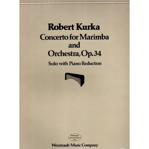 Concerto For Marimba And Orchestra, Op. 34 (solo With Piano Reduction)