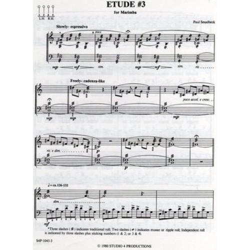 Etude No. 3 For Marimba