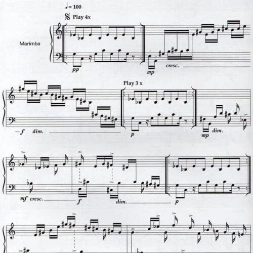 Four Rotations For Marimba I by Eric Sammut