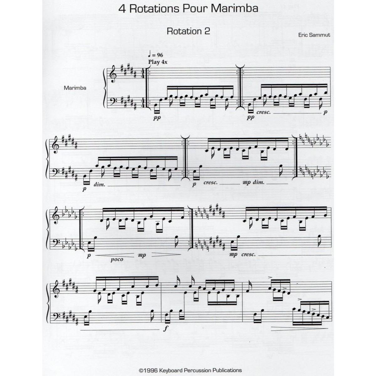 Four Rotations For Marimba II by Eric Sammut