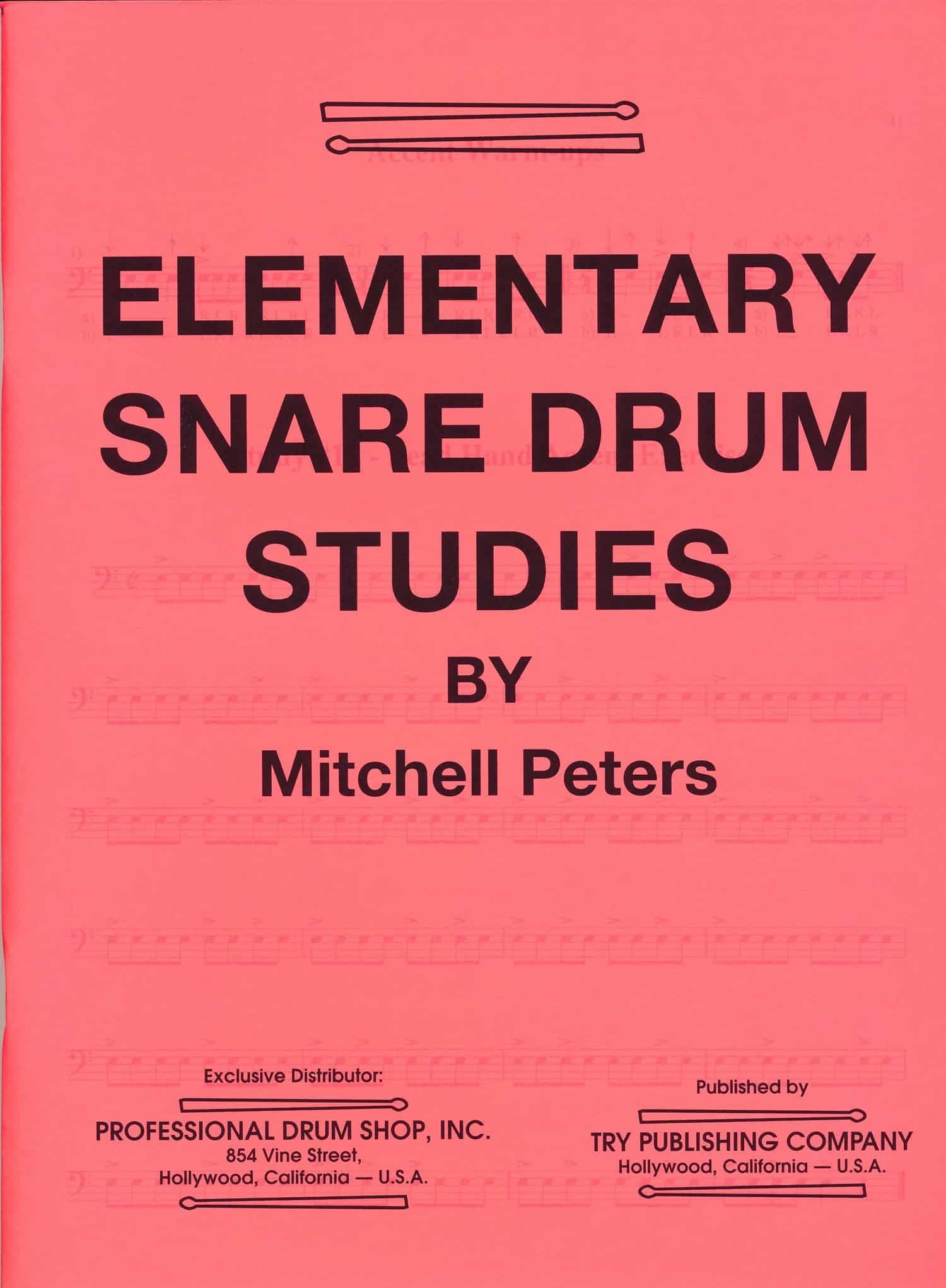 Elementary Snare Drum Studies by Mitchell Peters