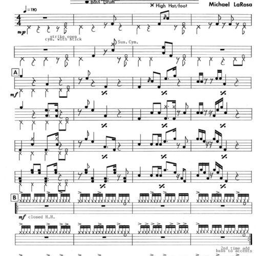 Drum Set Etude No. 2