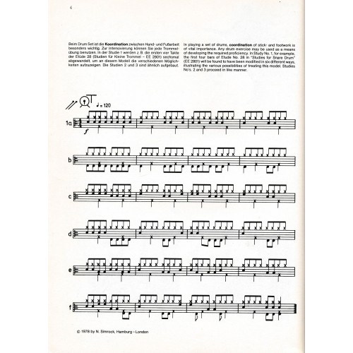 Studies for Drum Set vol. 2