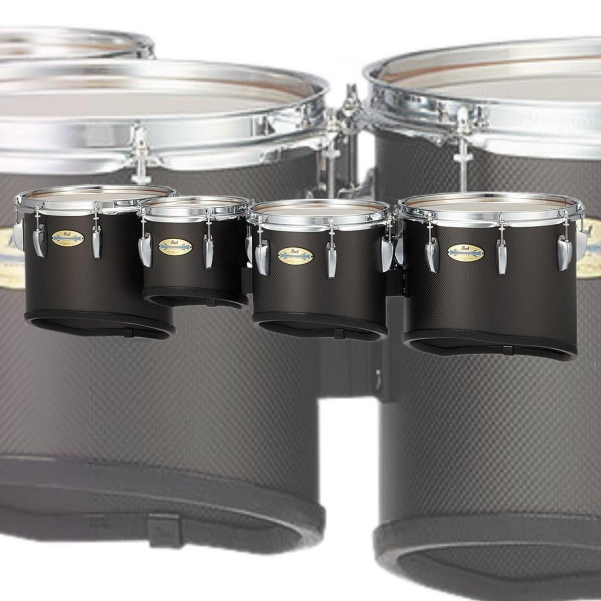 "Pearl CarbonPly Championship 10/12/13/14"" Marching Multi Tenor Drum - Quad"