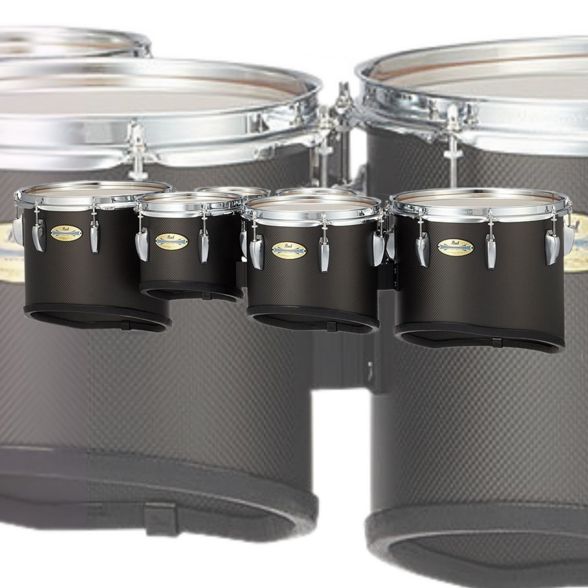"""Pearl CarbonPly Championship 6/6/8/10/12/13"""" Marching Multi Tenor Drum - Sextet"""
