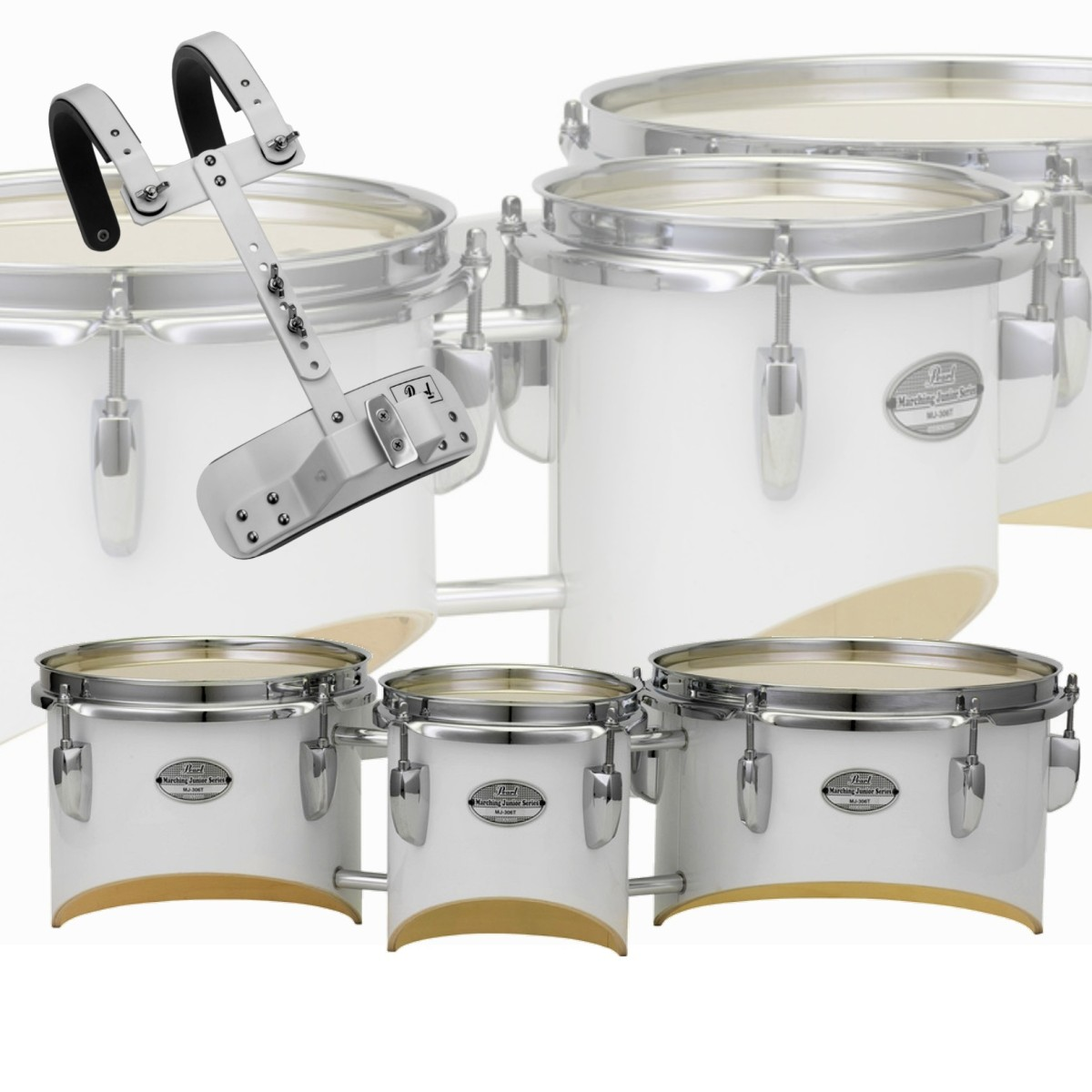 """Pearl Junior Series 6/8/10"""" Trio Tom - Small Carrier included"""