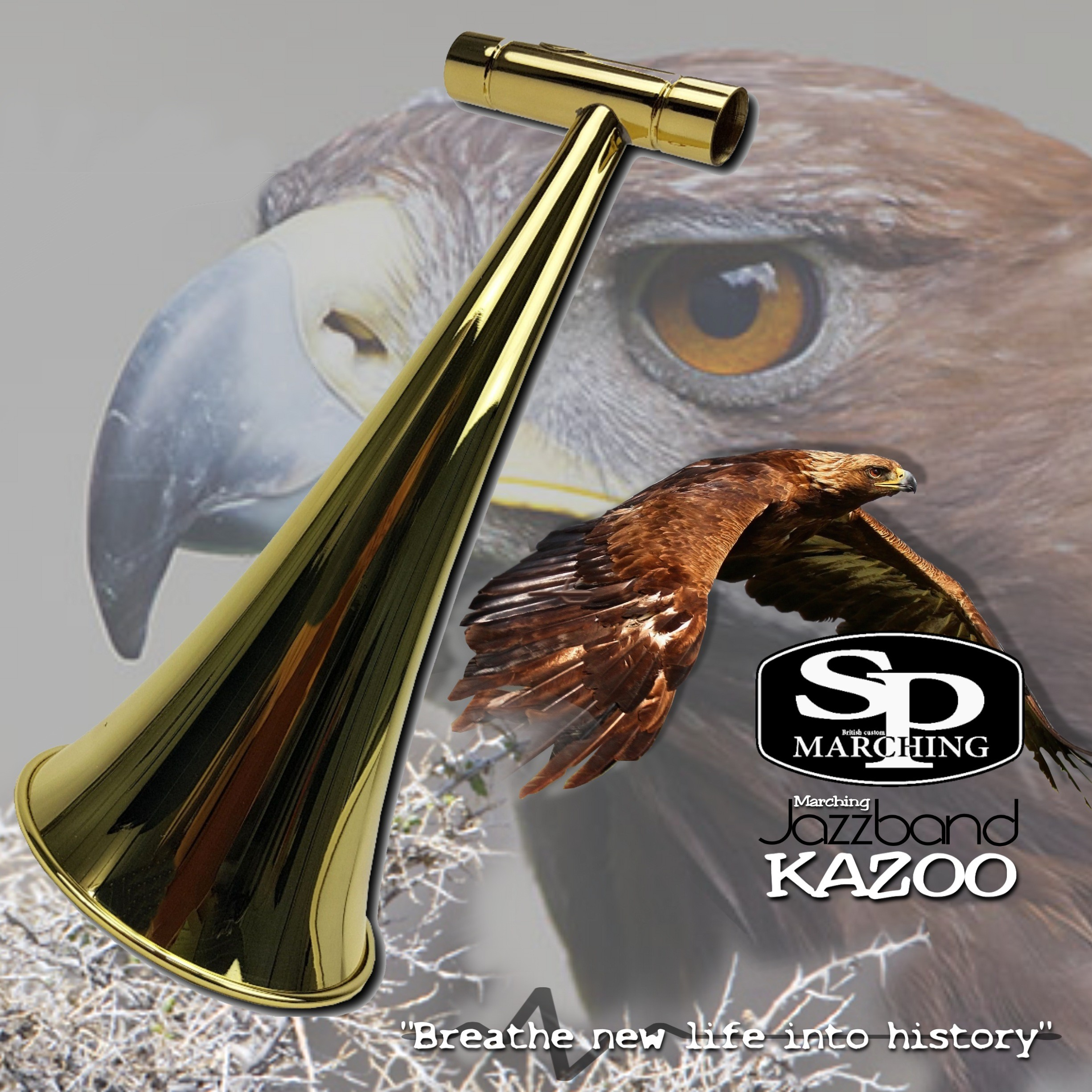 SP Marching Kazoo Eagle Transparent Lacquered