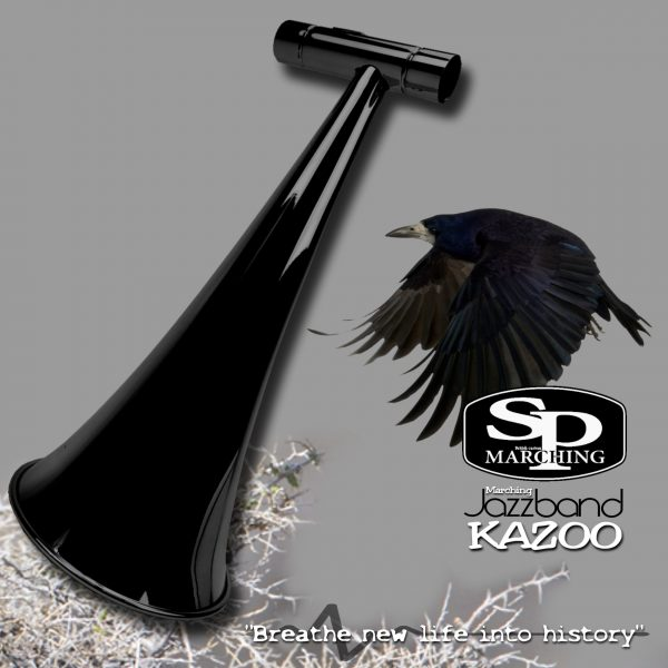 SP Marching Kazoo Crow Glossy Black Lacquered