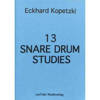 13 Snare Drum Studies by Eckhard Kopetzki