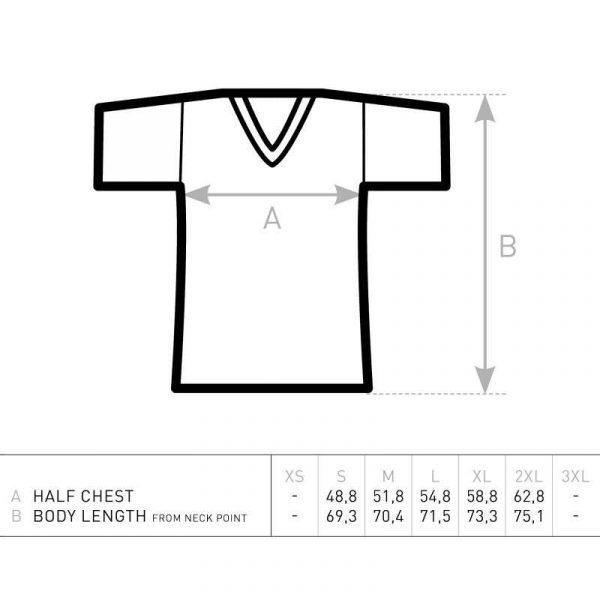 Pearl Image Wear T-Shirt V-Neck Splatter Logo White