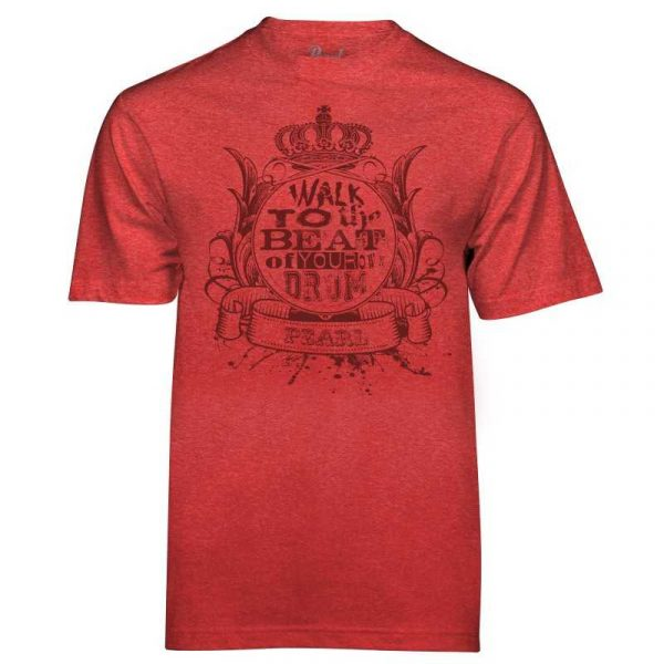 Pearl Image Wear T-Shirt Walk to the Beat Heather Red