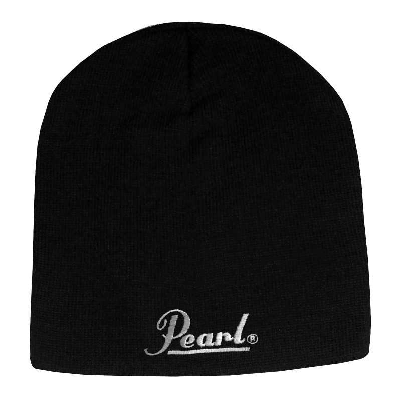 Pearl Image Wear Knitted Beanie with Logo Black