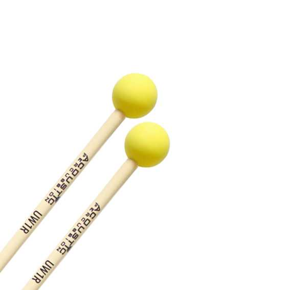 Acoustic Percussion UW1 Unwound Series Extra Hard Rubber Mallets