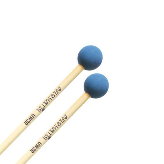 Acoustic Percussion UW3 Unwound Series Medium Rubber Mallets