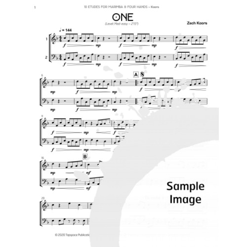 10 Etudes for Marimba & Four Hands by Zachary M. Koors