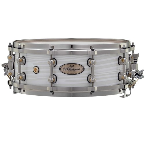 Pearl Philharmonic 75th Anniversary Snare Drum 14x5 Silver White Swirl