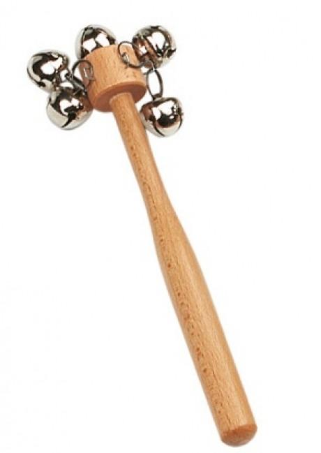 Bell Stick - 5 Cross Bells (Medium Pitch)