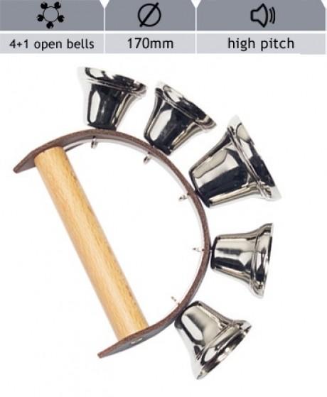 Hand Bells - 5 open Bells (High Pitch)