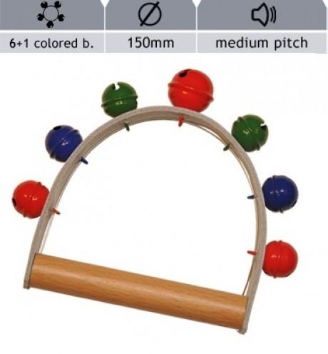 Rohema Hand Bells - 7 Coloured Bells (Medium Pitch)