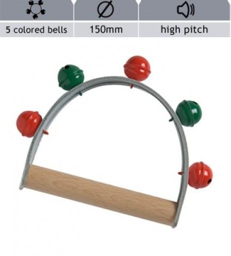 Hand Bells - 5 Coloured Bells (High Pitch)