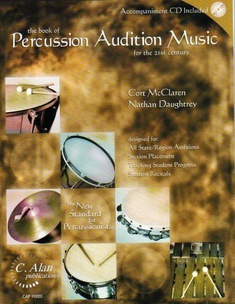 Book Of Percussion Audition Music by Nathan Daughtry & Cort McClaren